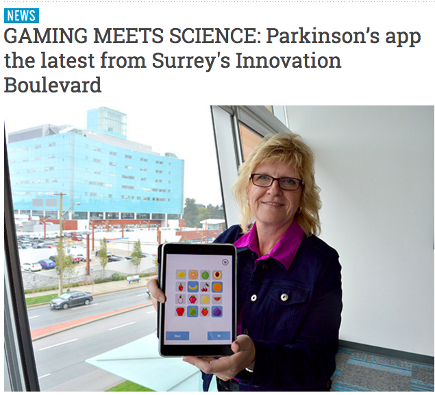Gaming Meets Science: Parkinson's App the Latest from Surrey's Innovation Boulevard Logo